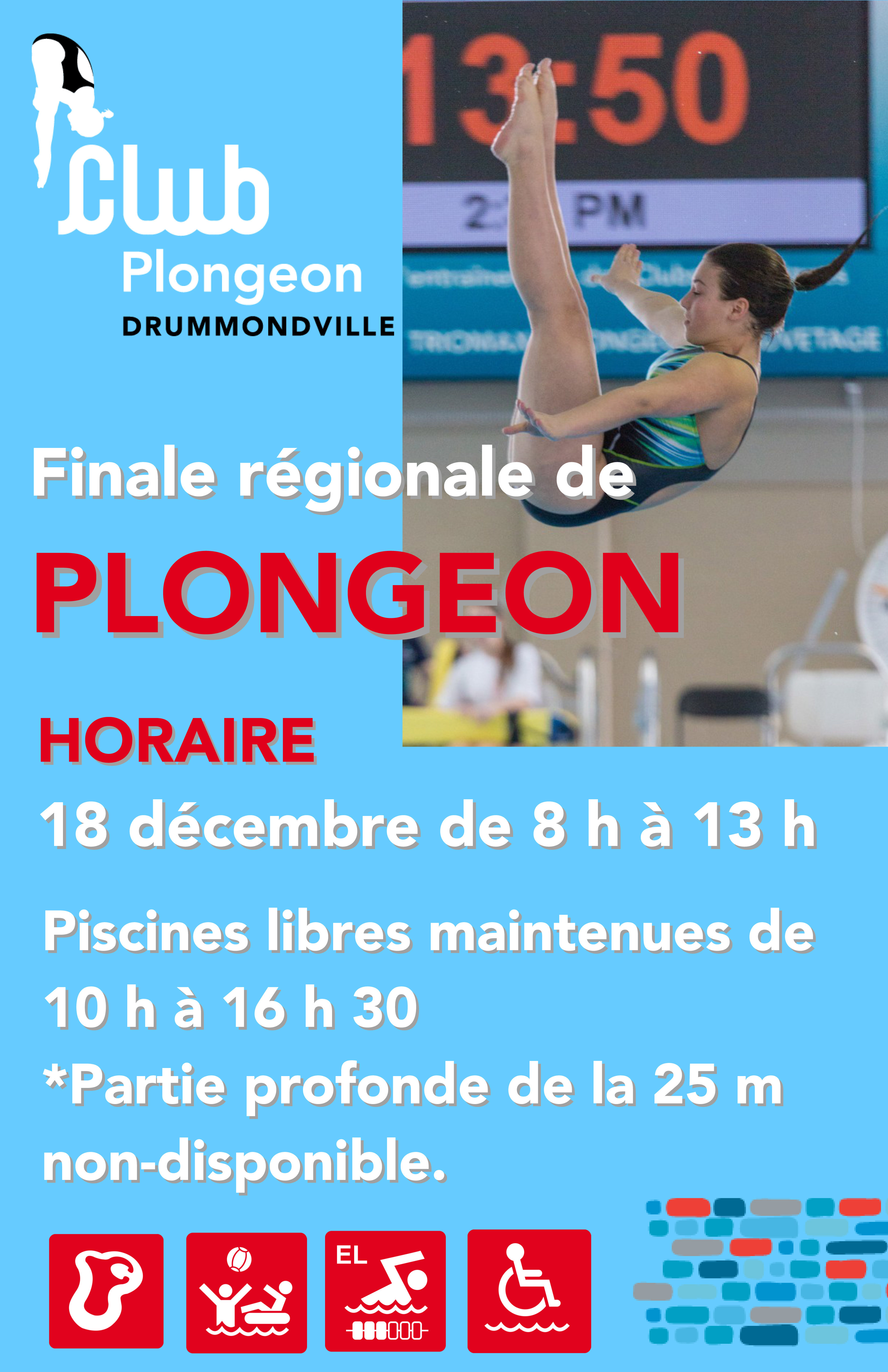 Finale r gionale de plongeon r seau aquatique for Club piscine drummondville